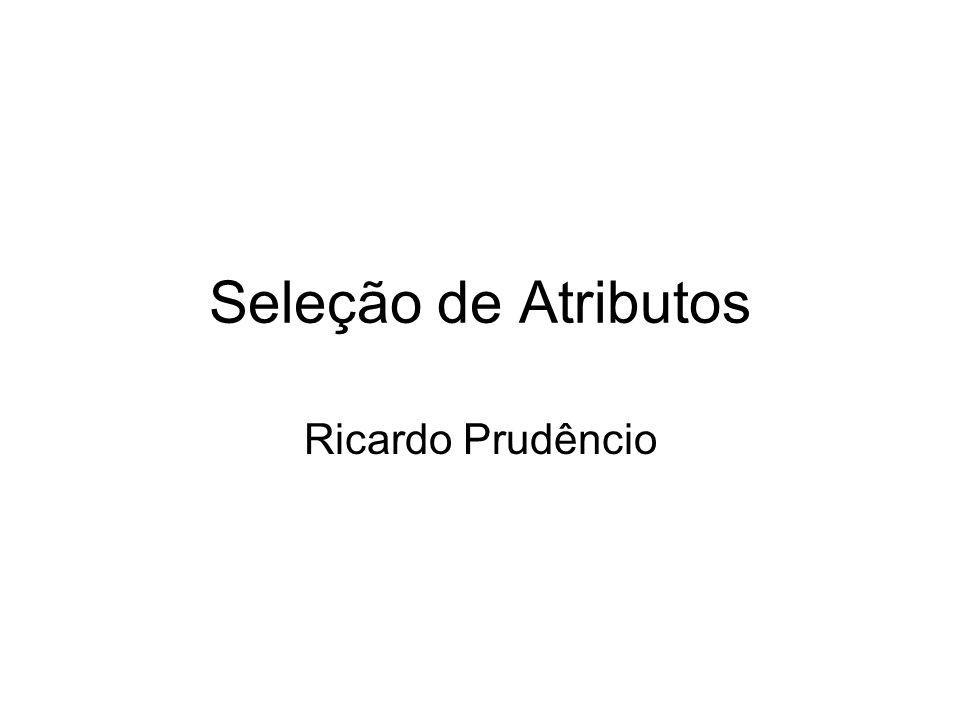Seleção de Atributos Ricardo Prudêncio
