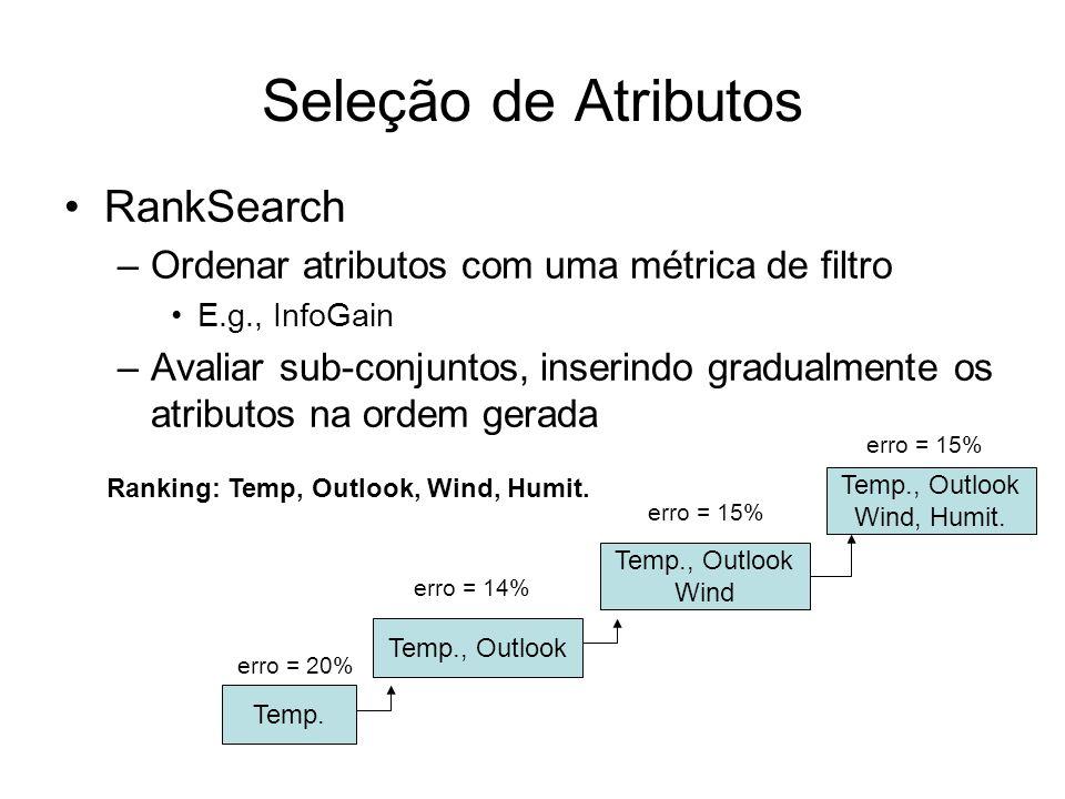 Seleção de Atributos RankSearch