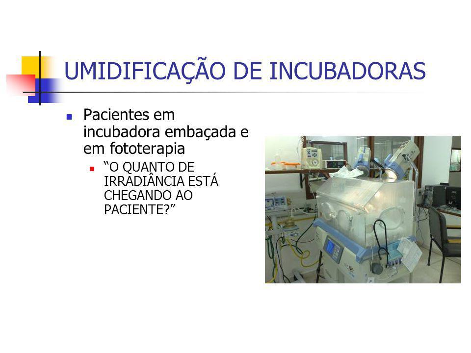 UMIDIFICAÇÃO DE INCUBADORAS