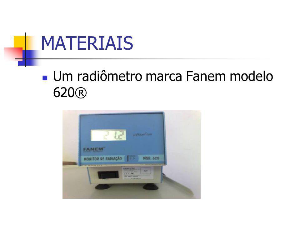 MATERIAIS Um radiômetro marca Fanem modelo 620®