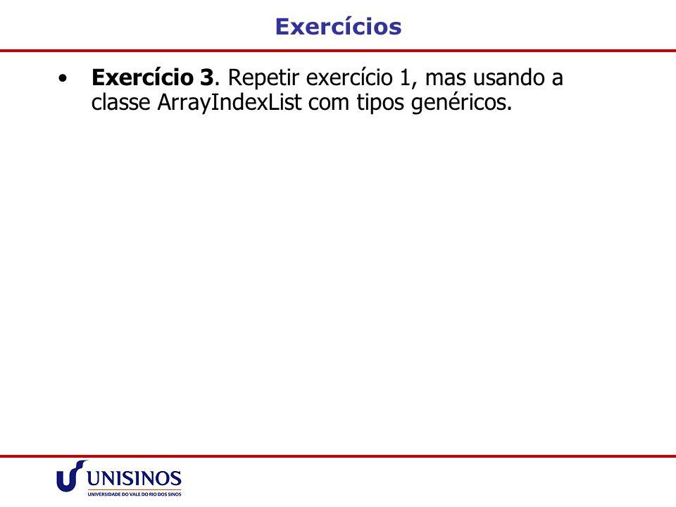 Exercícios Exercício 3.