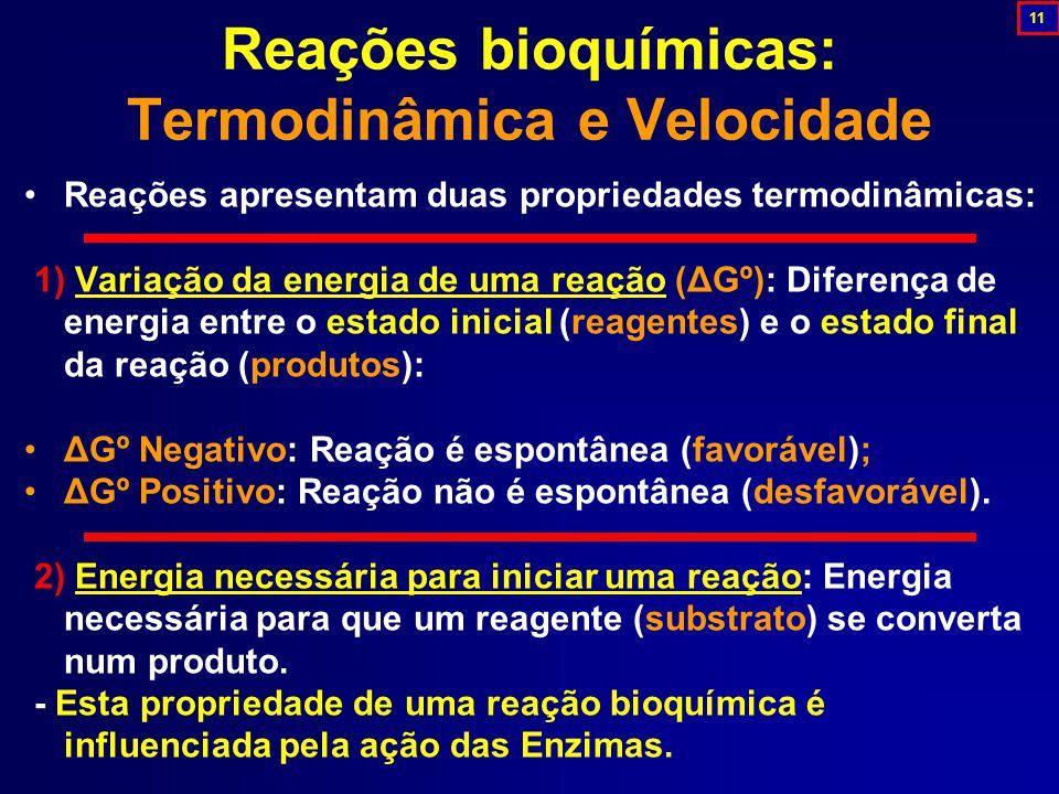 Reações bioquímicas: Termodinâmica e Velocidade