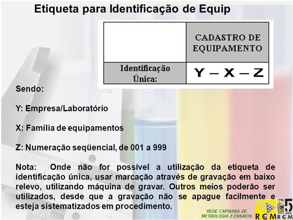 Etiqueta para Identificação de Equip