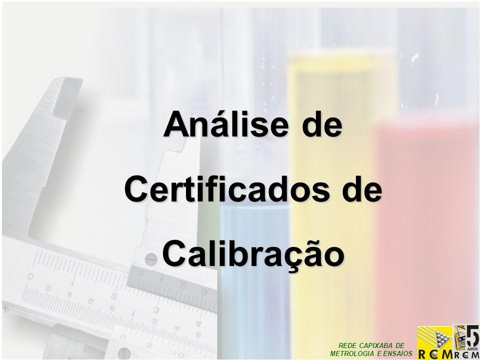 Análise de Certificados de Calibração