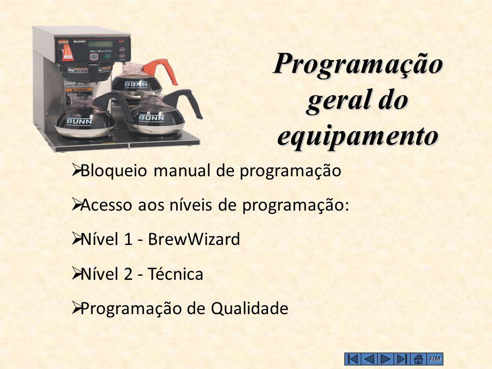 Programação geral do equipamento