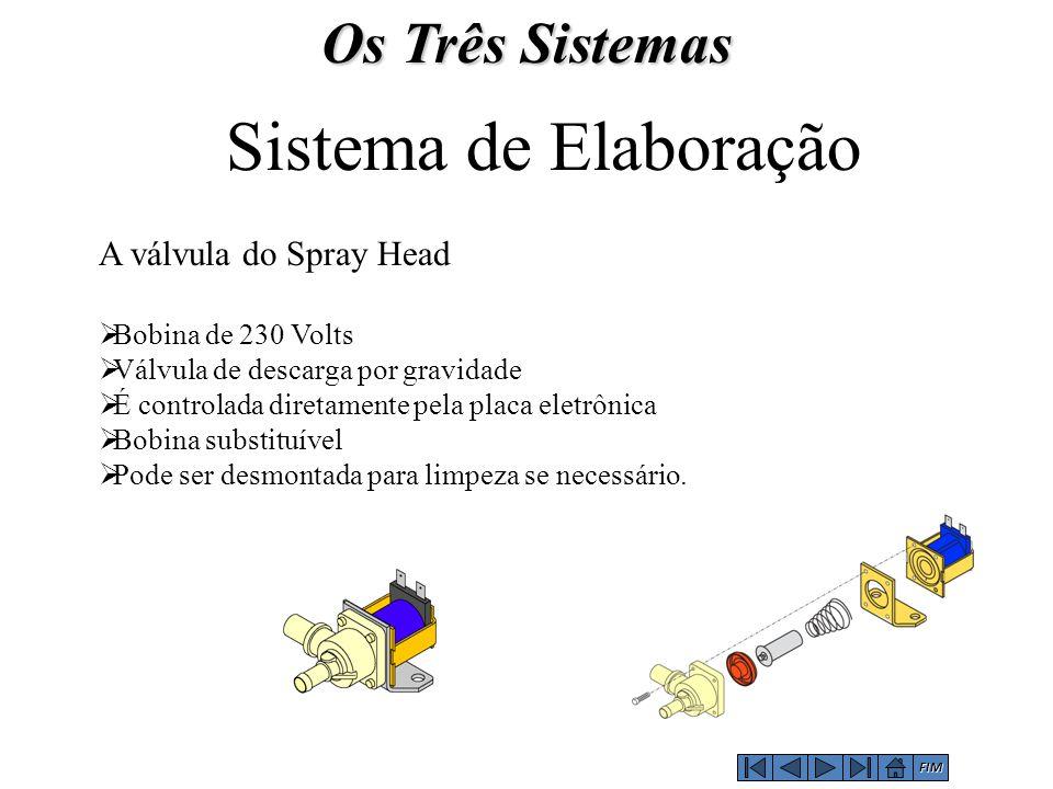 Sistema de Elaboração Os Três Sistemas A válvula do Spray Head