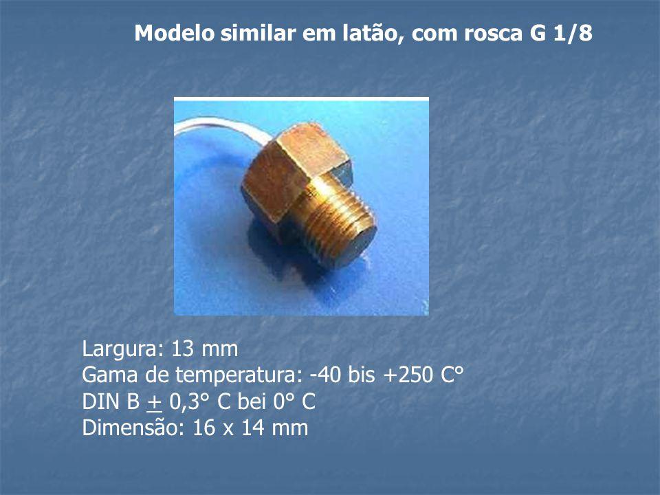 Modelo similar em latão, com rosca G 1/8