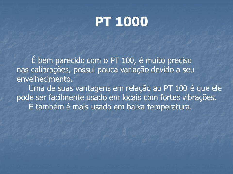 PT 1000 É bem parecido com o PT 100, é muito preciso