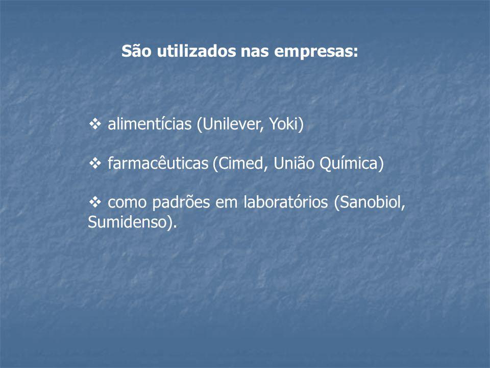 São utilizados nas empresas: