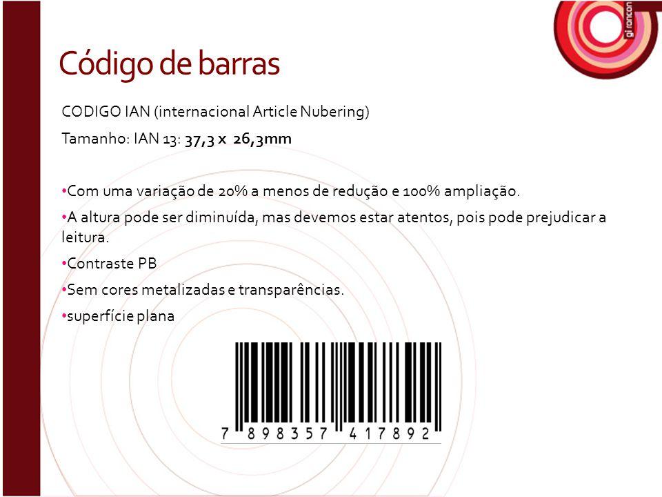 Código de barras CODIGO IAN (internacional Article Nubering)