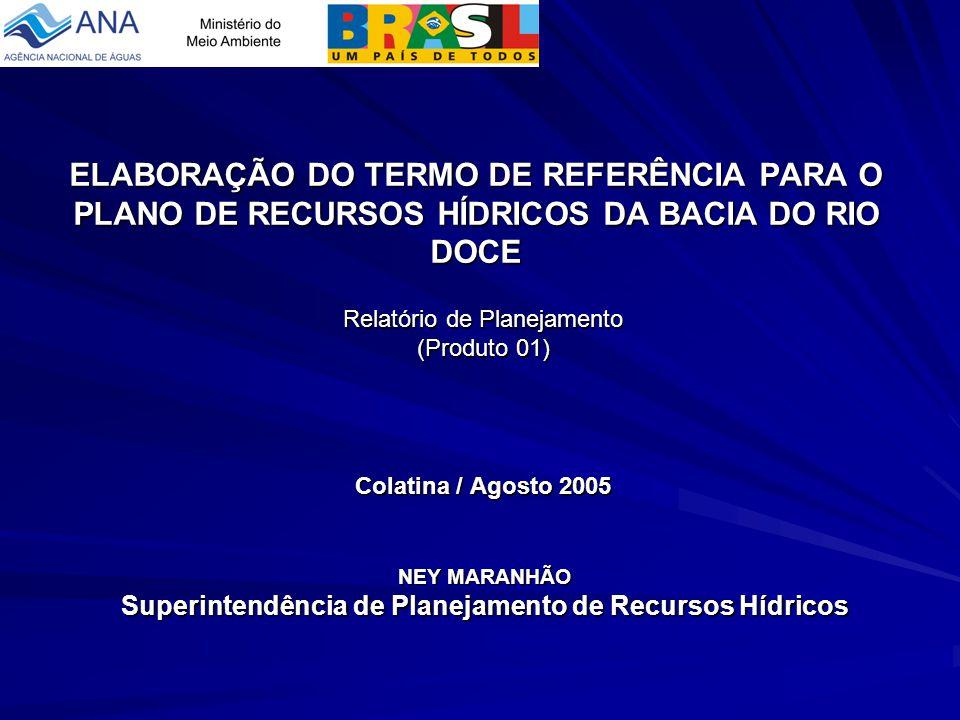 Relatório de Planejamento (Produto 01) Colatina / Agosto 2005
