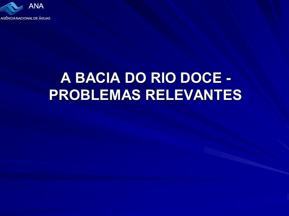 A BACIA DO RIO DOCE - PROBLEMAS RELEVANTES