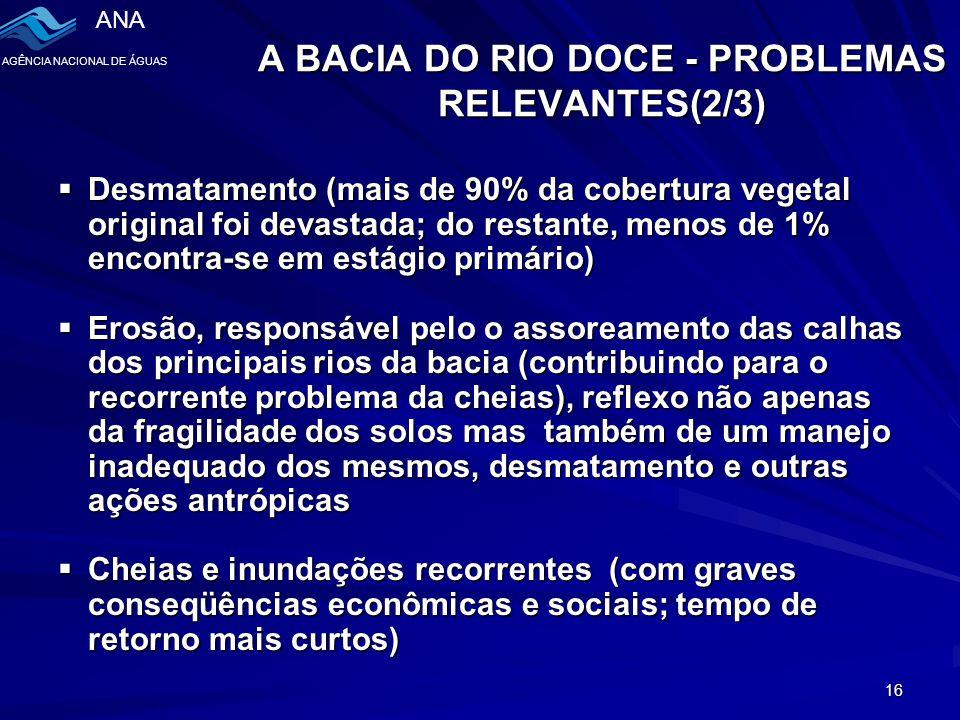 A BACIA DO RIO DOCE - PROBLEMAS RELEVANTES(2/3)