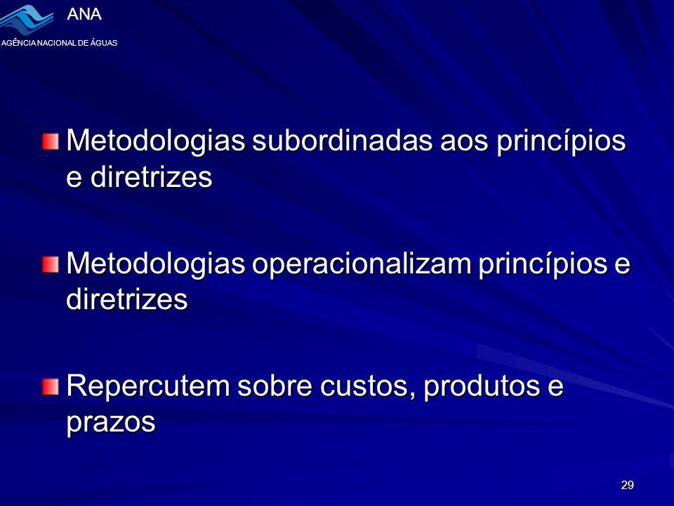 Metodologias subordinadas aos princípios e diretrizes