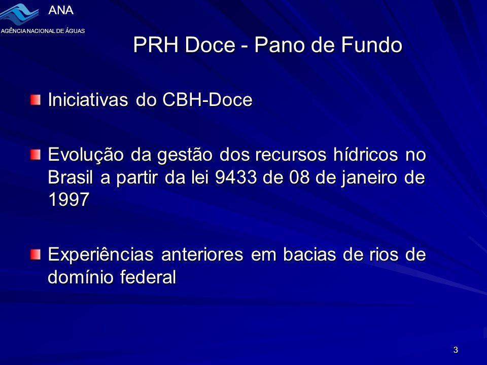 PRH Doce - Pano de Fundo Iniciativas do CBH-Doce
