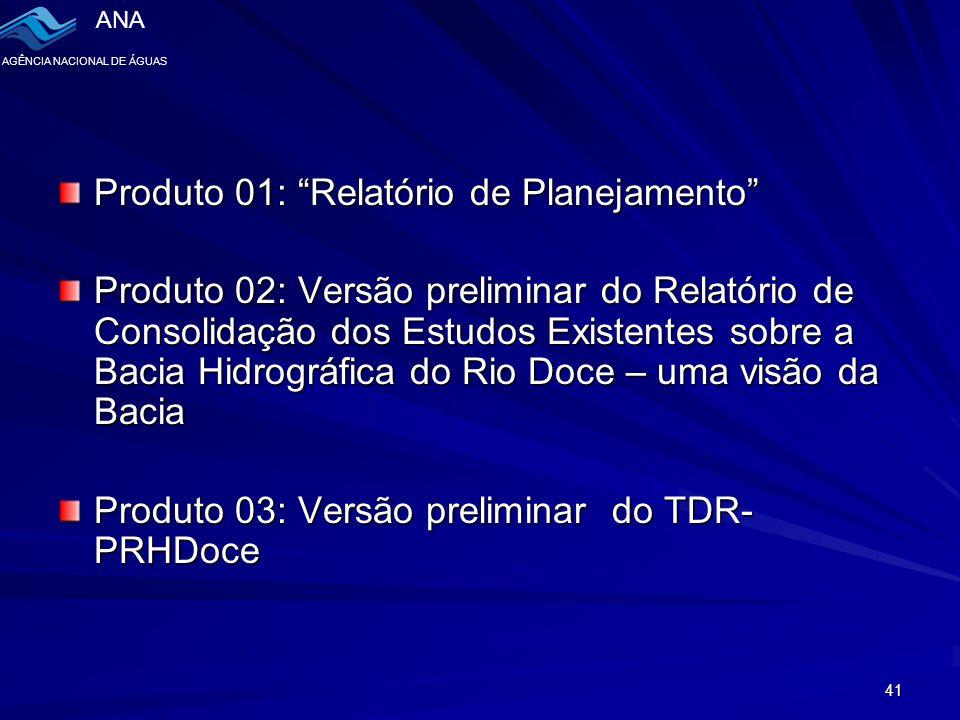 Produto 01: Relatório de Planejamento
