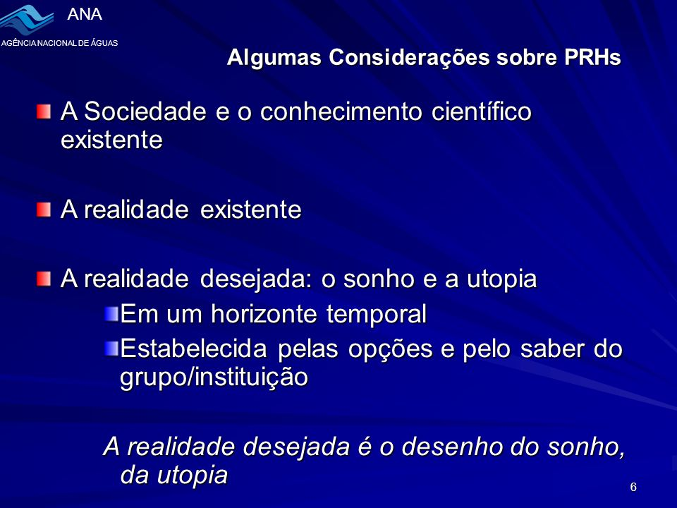 Algumas Considerações sobre PRHs