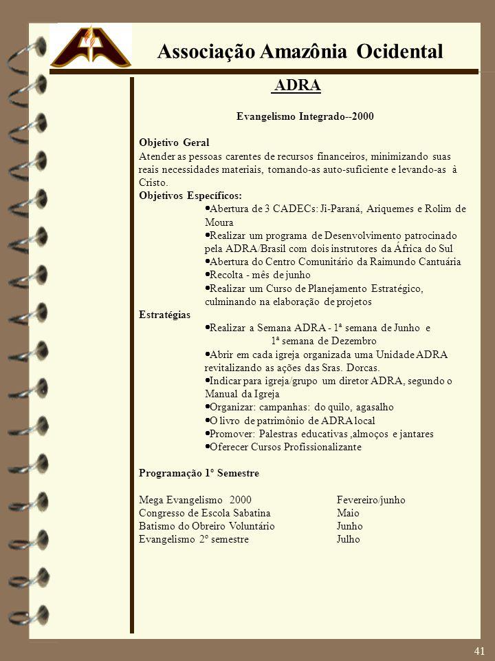 Associação Amazônia Ocidental Evangelismo Integrado--2000