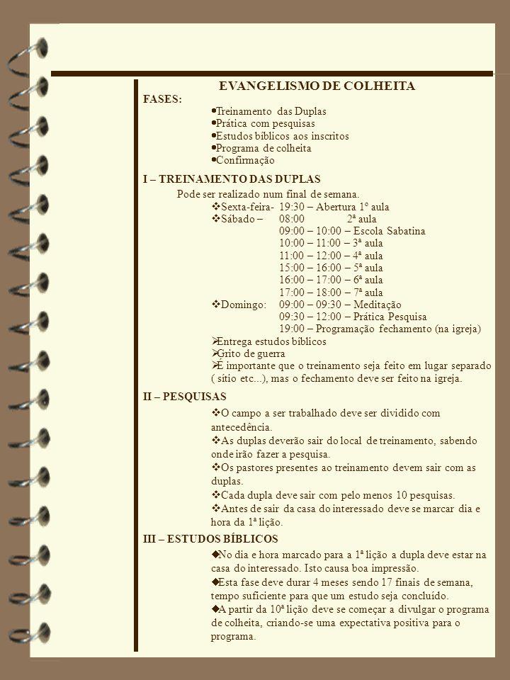 EVANGELISMO DE COLHEITA