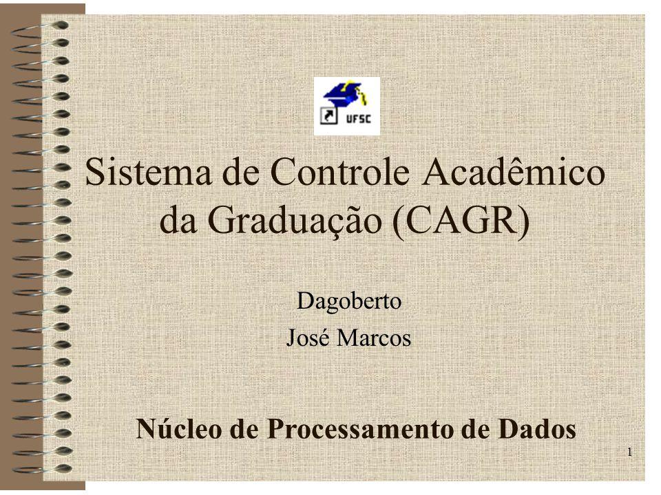Sistema de Controle Acadêmico da Graduação (CAGR)