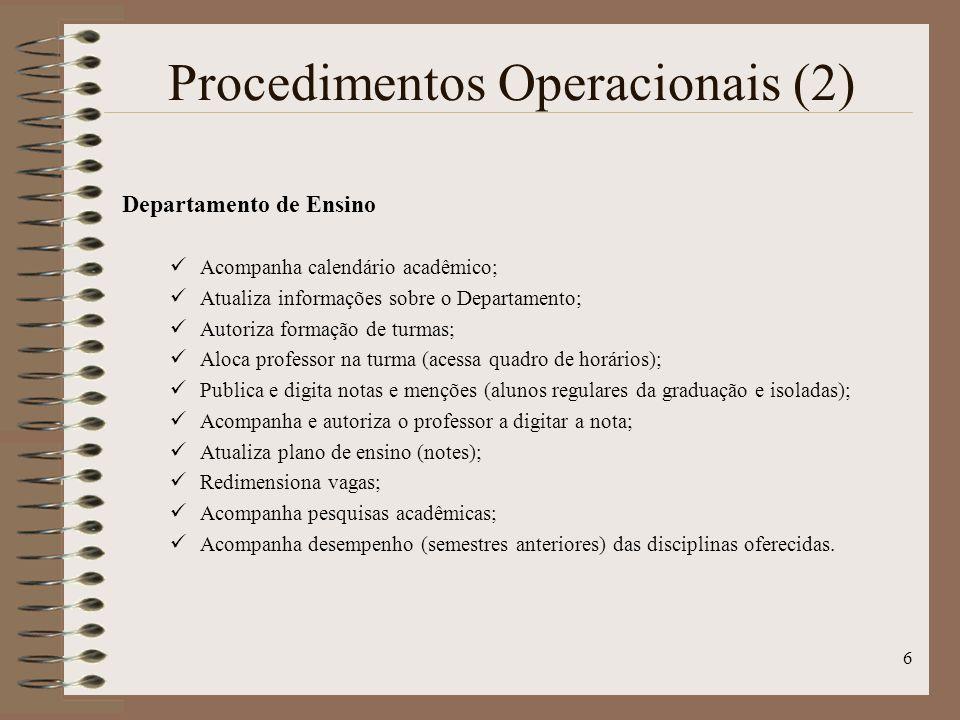 Procedimentos Operacionais (2)