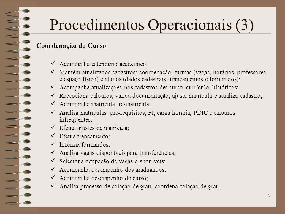 Procedimentos Operacionais (3)