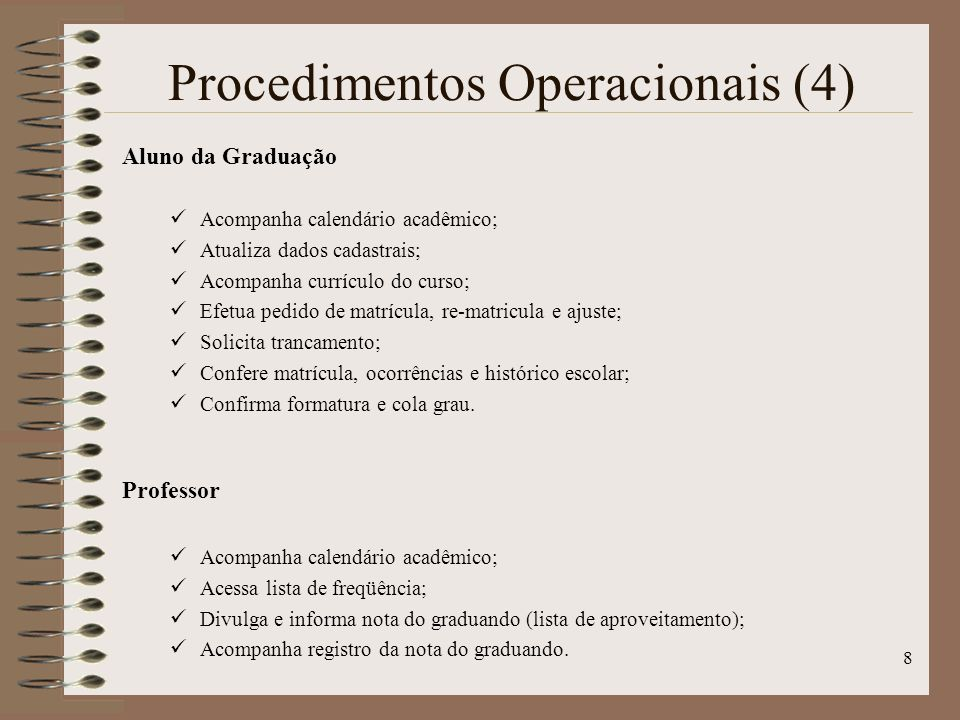 Procedimentos Operacionais (4)