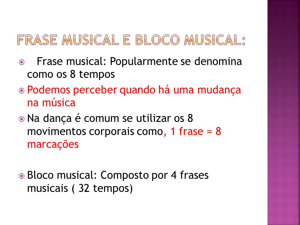 Frase musical e bloco musical: