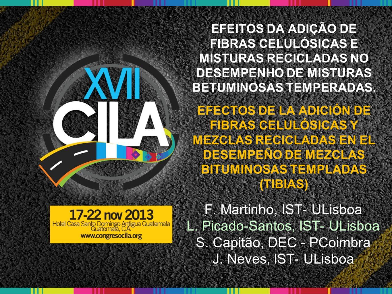F. Martinho, IST- ULisboa L. Picado-Santos, IST- ULisboa