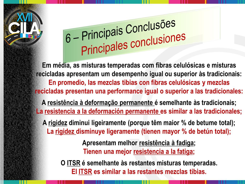 6 – Principais Conclusões Principales conclusiones