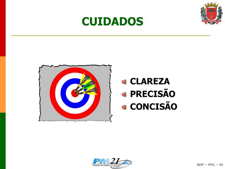 CUIDADOS CLAREZA PRECISÃO CONCISÃO