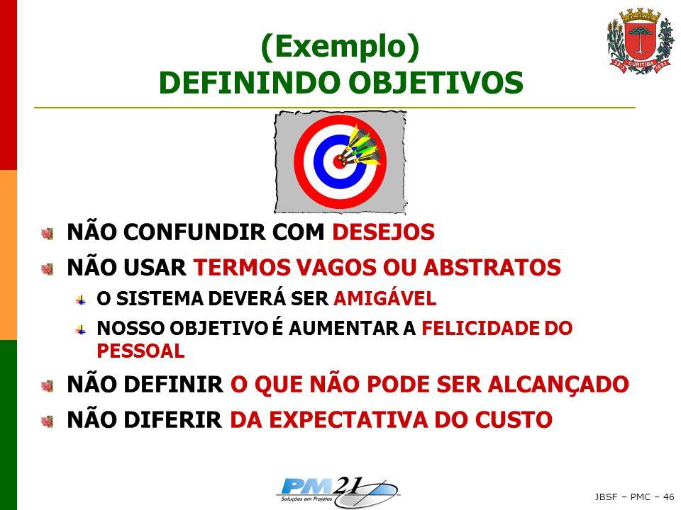 (Exemplo) DEFININDO OBJETIVOS