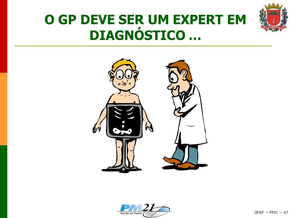 O GP DEVE SER UM EXPERT EM DIAGNÓSTICO …