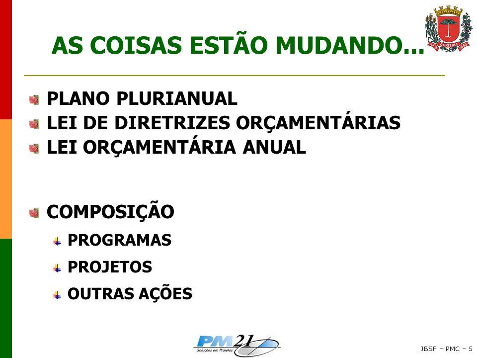 AS COISAS ESTÃO MUDANDO...