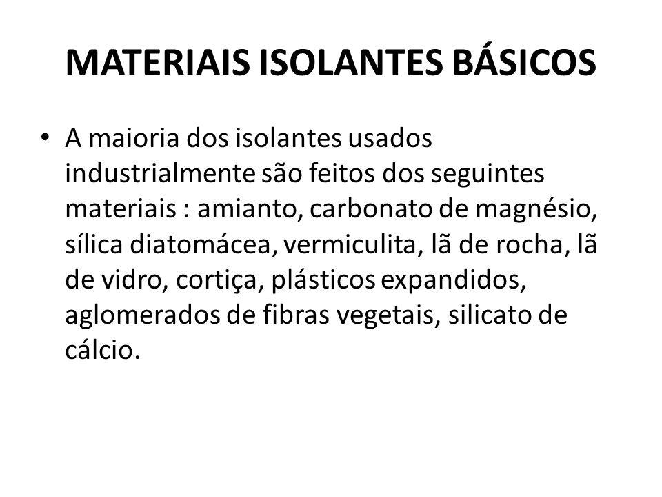 MATERIAIS ISOLANTES BÁSICOS