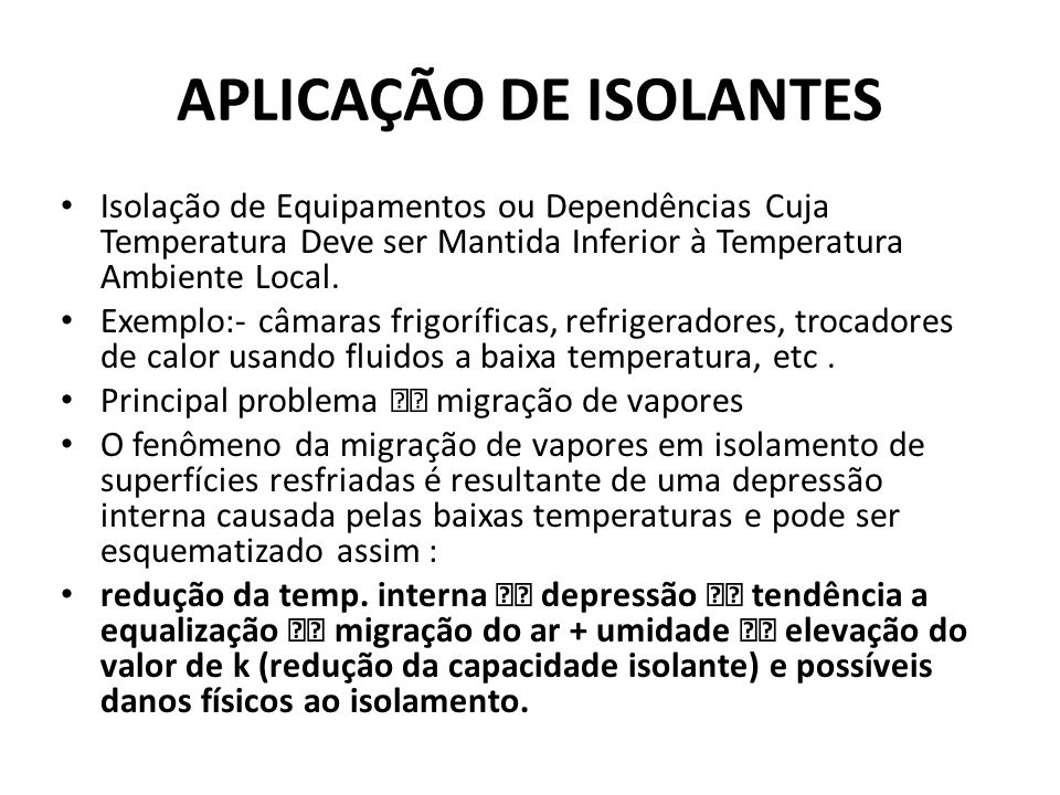 APLICAÇÃO DE ISOLANTES