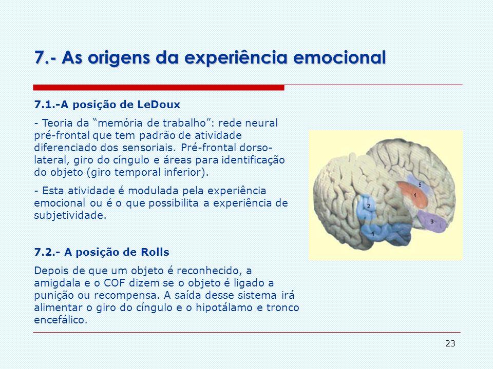 7.- As origens da experiência emocional