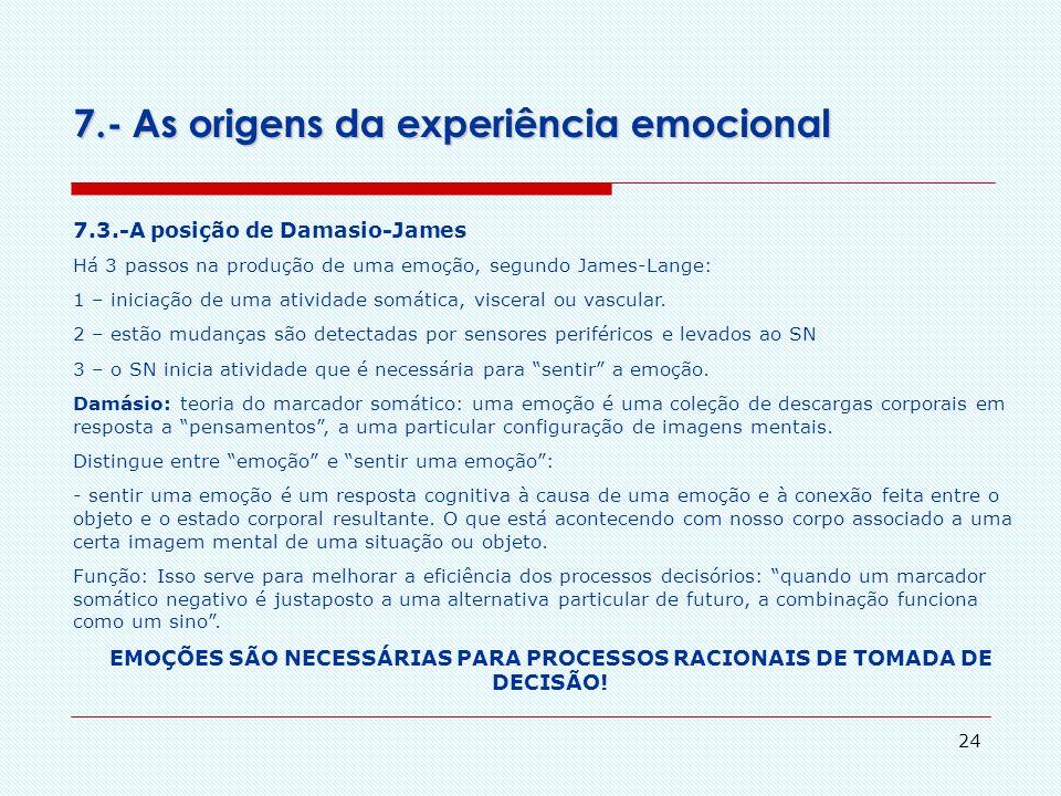 EMOÇÕES SÃO NECESSÁRIAS PARA PROCESSOS RACIONAIS DE TOMADA DE DECISÃO!