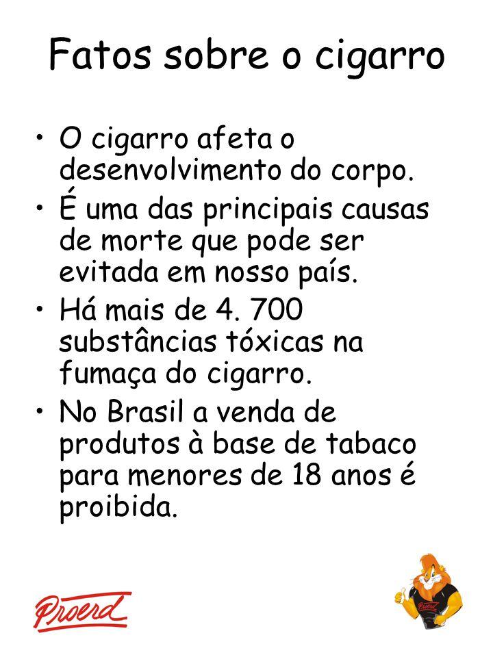 Fatos sobre o cigarro O cigarro afeta o desenvolvimento do corpo.