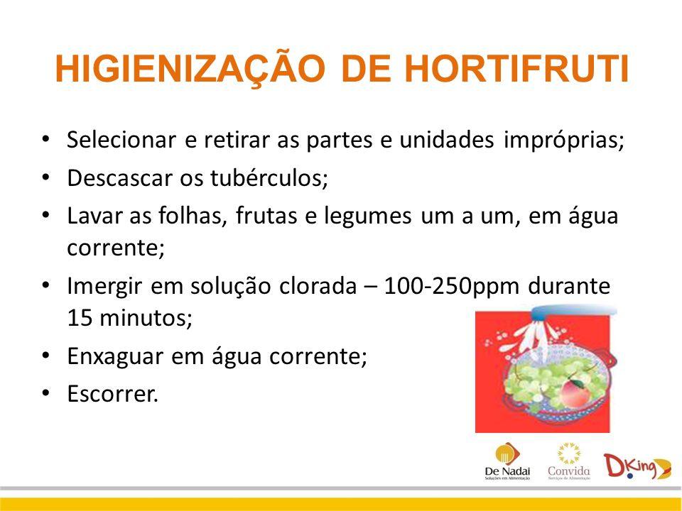 HIGIENIZAÇÃO DE HORTIFRUTI