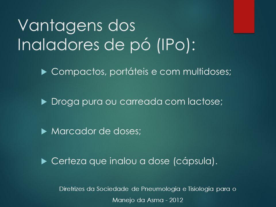 Vantagens dos Inaladores de pó (IPo):