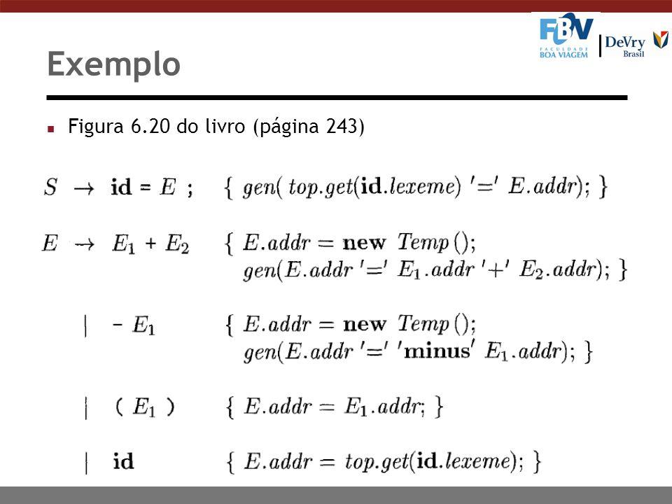 Exemplo Figura 6.20 do livro (página 243)
