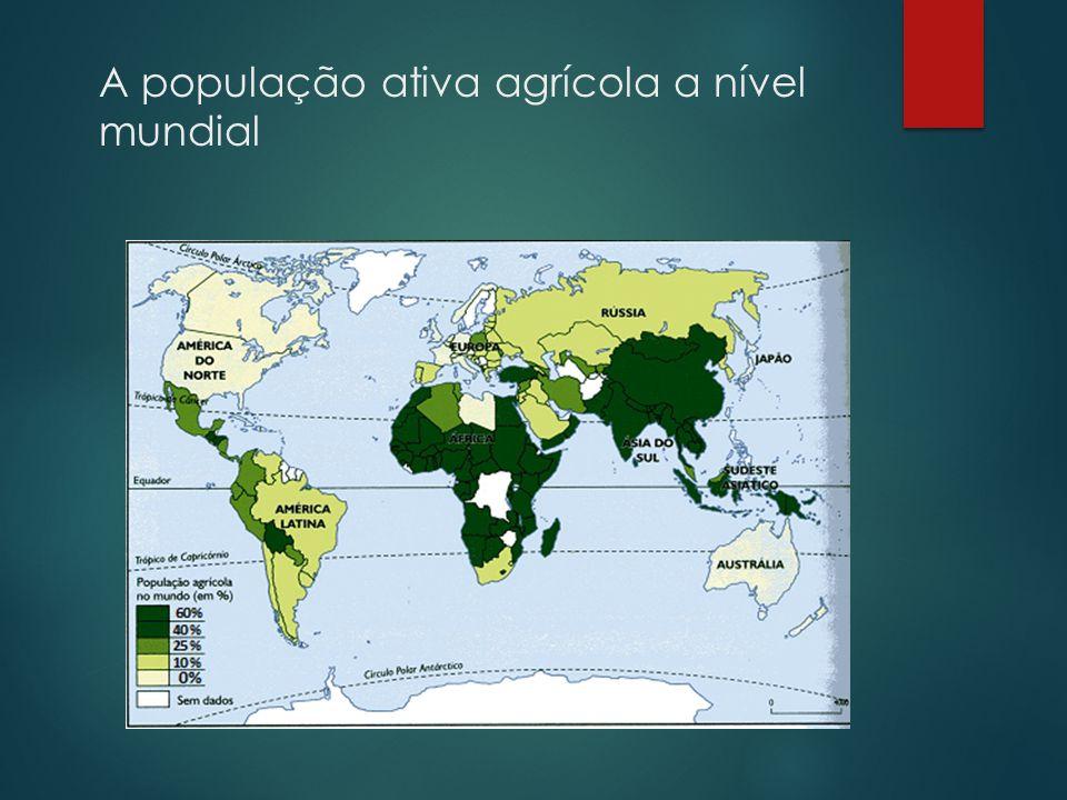 A população ativa agrícola a nível mundial