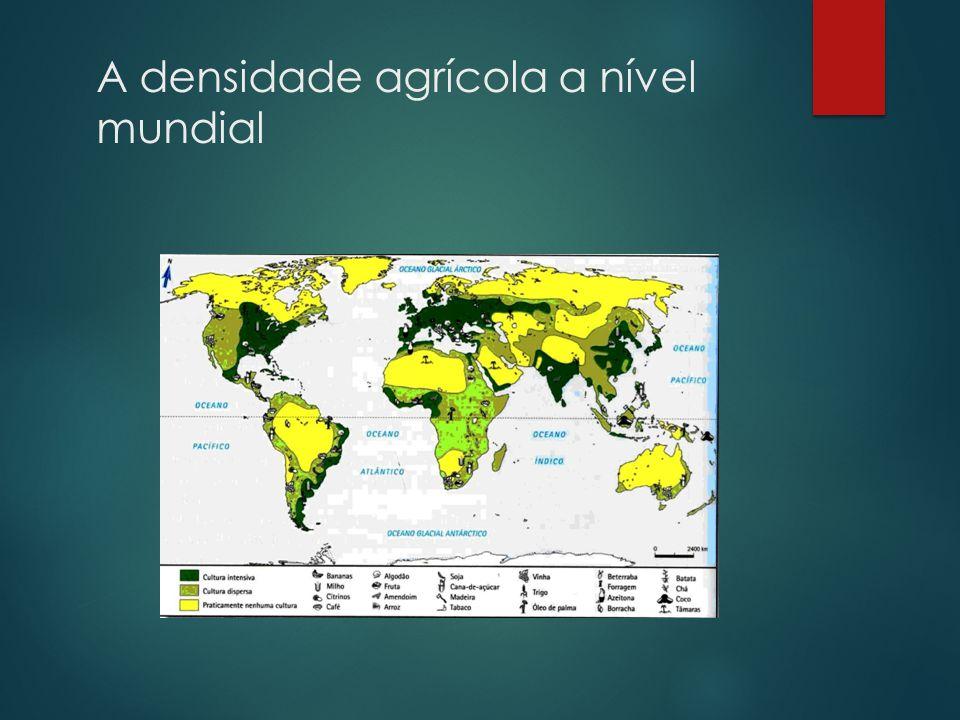 A densidade agrícola a nível mundial