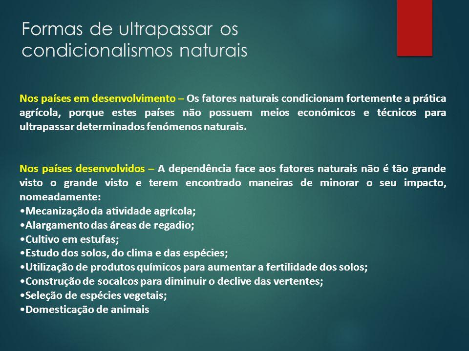 Formas de ultrapassar os condicionalismos naturais