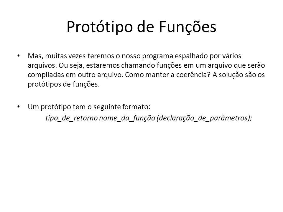 Protótipo de Funções