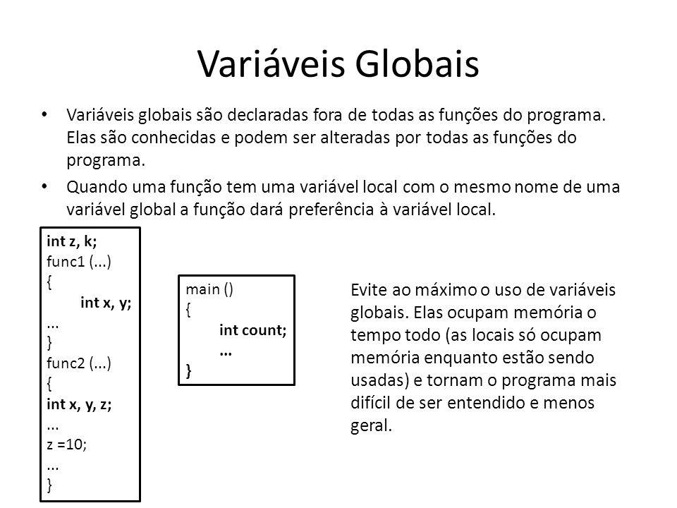 Variáveis Globais