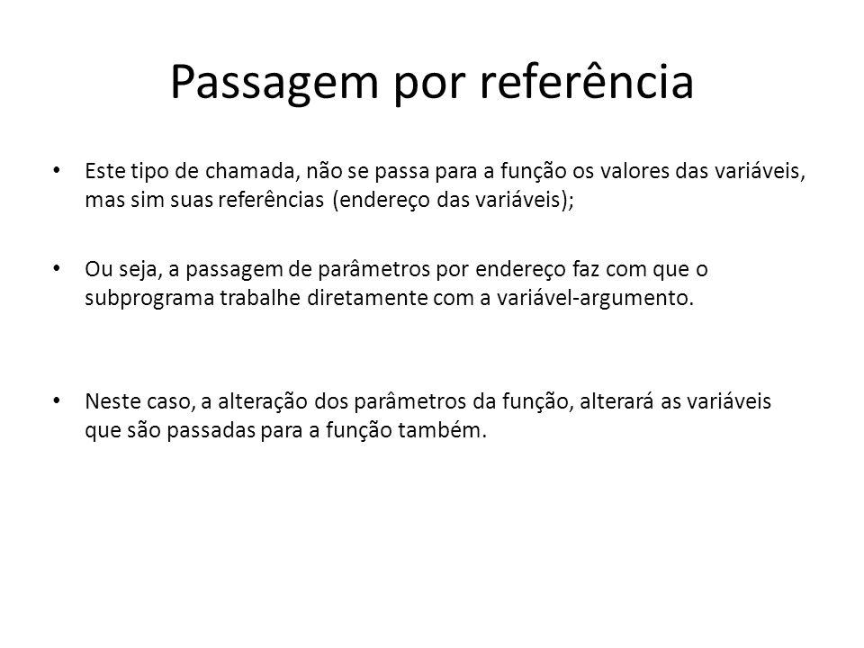 Passagem por referência