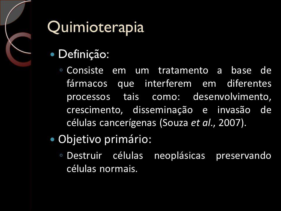 Quimioterapia Definição: Objetivo primário: