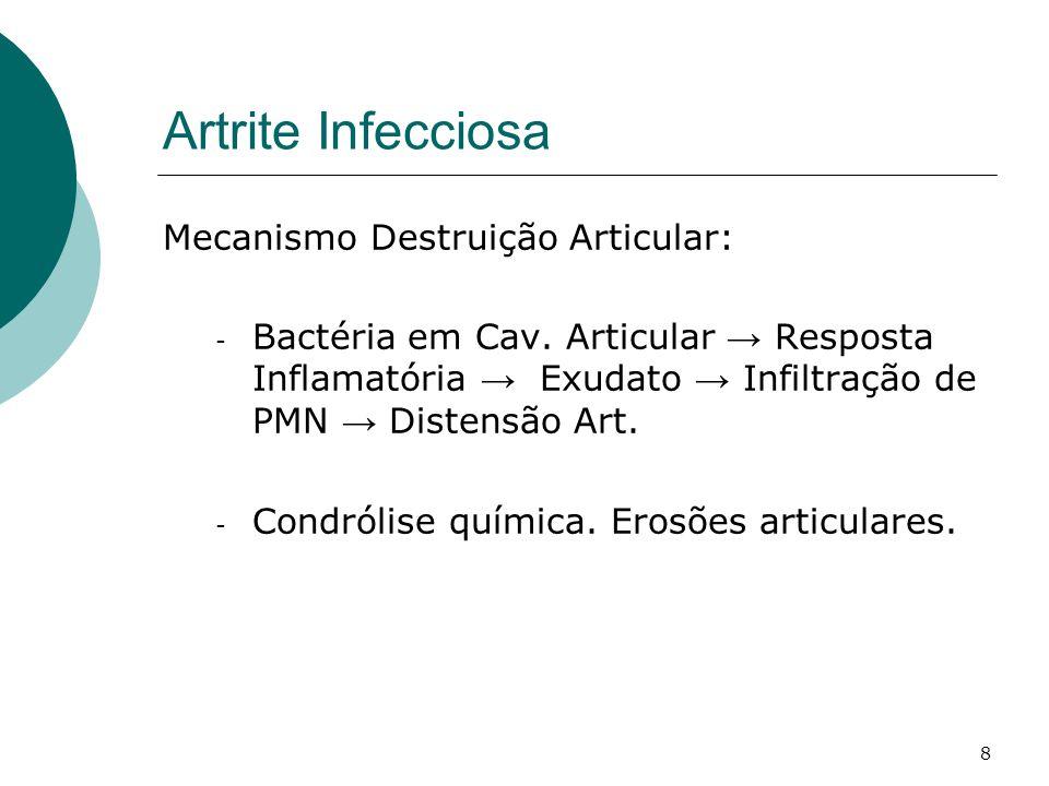 Artrite Infecciosa Mecanismo Destruição Articular:
